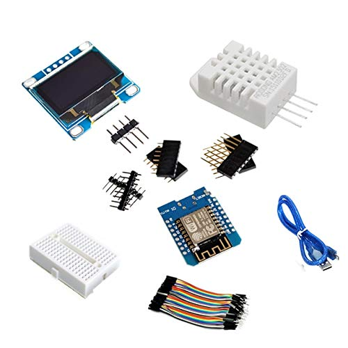 Kits de inicio de estación meteorológica ESP8266 DIY IOT para Arduino con 0.96 Pantalla OLED D1 MINI Módulo inalámbrico WIFI Bluetooth