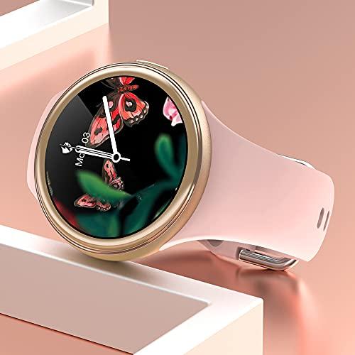 LEMFO Smartwatch Damen, IP68 Wasserdicht Fitness Tracker smart Watch mit Blutdruckmessung Pulsuhr Schrittzähler, Fitnessuhr Sportuhr for Ios Android