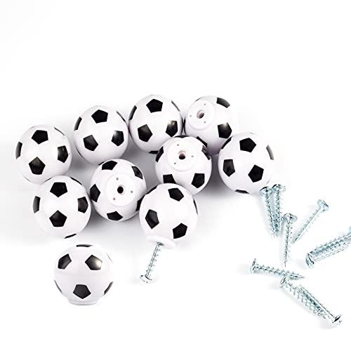 10Pezzi Manopola Per Comò Da Calcio Maniglia Per Decorazione A Tema Sportivo Maniglia Per Cassetti Per Mobili