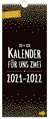 Du + Ich Paarkalender 2021/2022 mit 3 Spalten   Kalender für uns Zwei   Wandkalender, Paarplaner, Partnerkalender von Trendstuff by Häfft   nachhaltig & klimaneutral