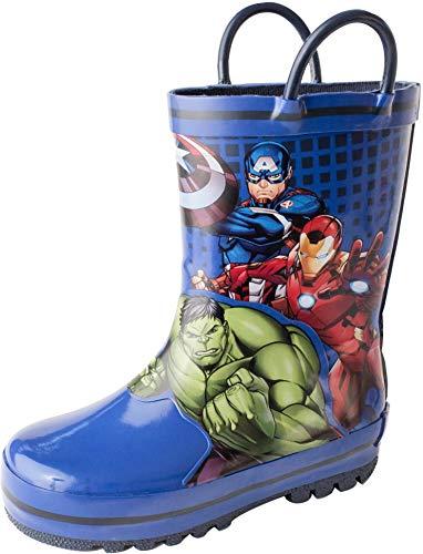 Favorite Characters Boy's Avengers Rain Boots AVS505 (Toddler/Little Kid) Blue 10 Toddler M