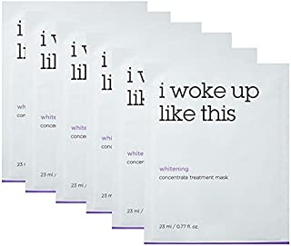 [IWLT] I woke up like this_ Concentrate Treatment Mask (6 pcs set) each mask contains 0.77 fl.oz of emulsion type essence with pearl powder, Vitamin C, and Niacinamide for brightning effect