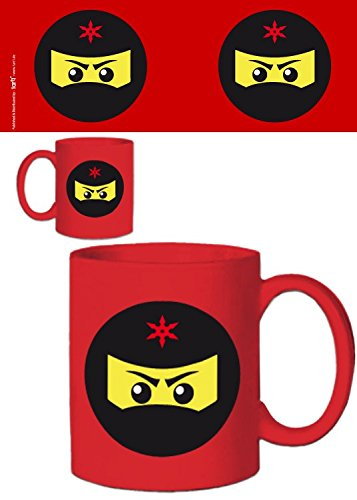 1art1 Gaming - Icono Ninja, Rojo Taza Foto (9 x 8cm)