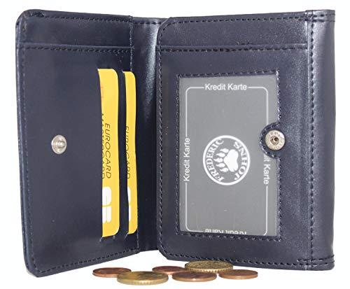 Frédéric Johns - Porte monnaie trieur + compartiment billets - porte monnaie euro - 8 compartiments séparés - porte monnaie euro - porte monnaie femme ou homme - Qualité supérieur - modèle euro (Bleu)