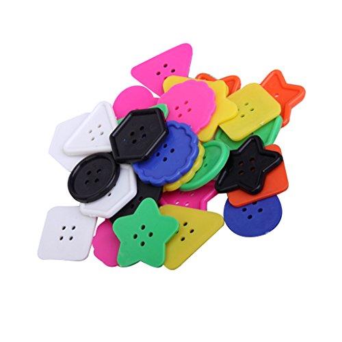Multicolor De Plastico Grandes Botones De Diferentes Formas Para Que Los Ninos Y Artesanias Adultos