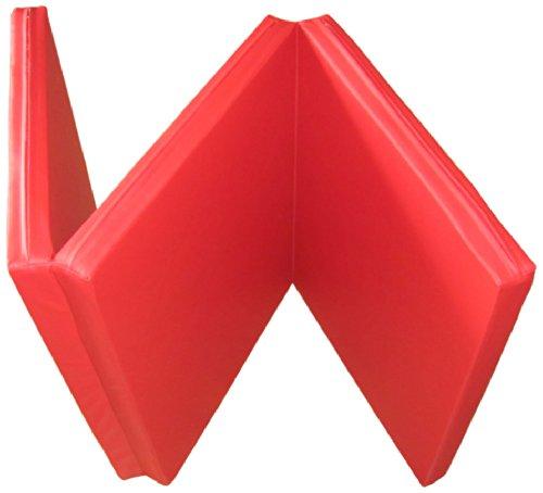 Niro Sportgeräte Turnmatte Weichbodenmatte Klappbar, Rot, 180 x 80 x 6.1 cm