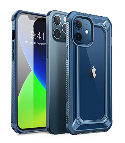 SUPCASE Unicorn Beetle EXO Series Case Cover for iPhone 12 / iPhone 12 Pro (2020 Release) 6.1 Inch, Hybrid Protective Clear Bumper Case Cover (Aqua)