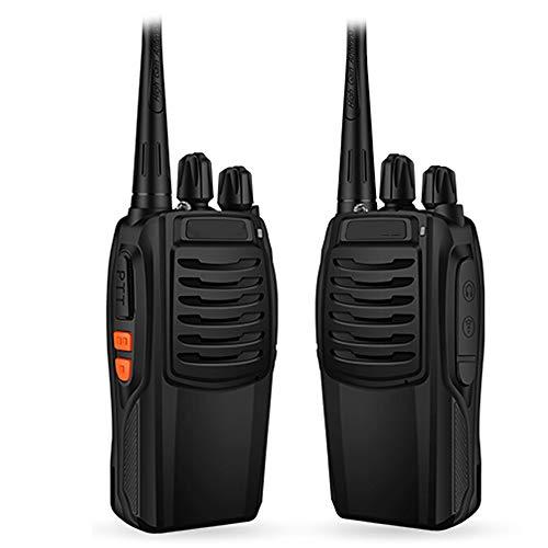 HGFDSA Walkie Talkies Ricaricabile a Lunga Portata, Radio Portatile a 16 Canali Portatile con LED Luce Voice Prompt per Comunicazione in Bicicletta per Escursionismo per Adulti (Confezione da 2)