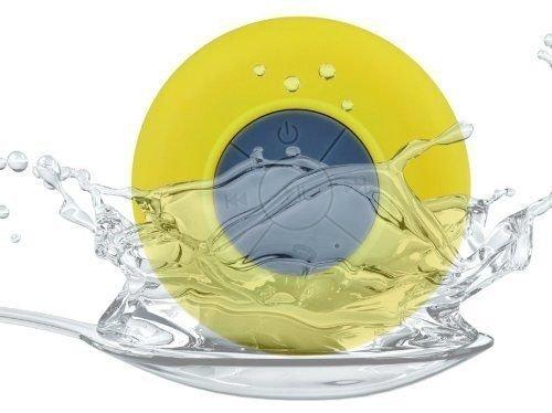 Yellow Wireless Waterproof Portable Speaker Compatible...