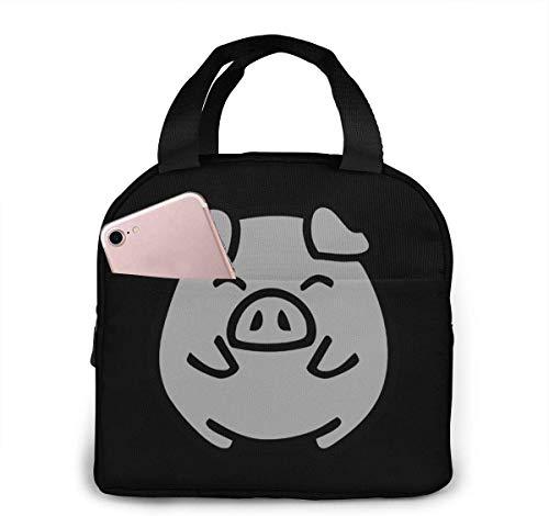 Bolsa de almuerzo portátil Cute Smile Pig Bolsa de almuerzo aislada reutilizable Bolsa de camping Caja de asas portátil Preparación de comidas o viaje