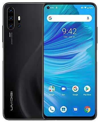 UMIDIGI F2, Smartphone 6.53'' FHD+ Android 10 Telefono Cellulare, 6GB RAM 128GB ROM, Quad Camera AI da 48 MP, Batteria da 5150mAh, Helio P70, NFC, Dual SIM 4G VoLTE Global Cellulari - Nero