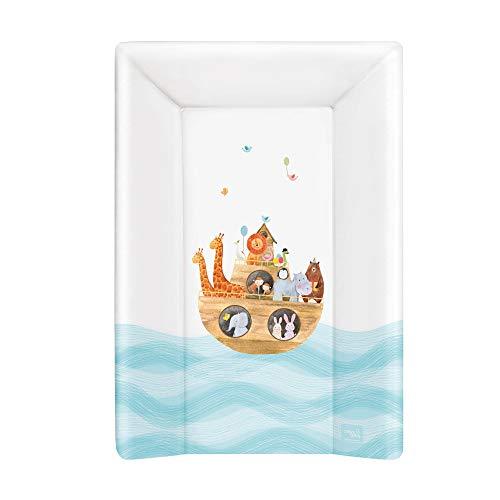 Ceba Baby Fasciatoio da Tavolo rigido 70x50 cm 2 Cunei e Testiera Fasciatoio da Lettino Lavabile Fasciatoio da Culla per Bambine e Bambini - Arka 70x50