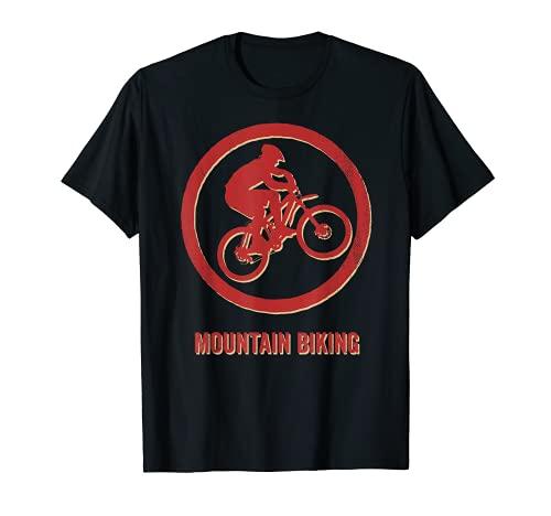 Mountain Biking Sport Vintage Retro T-Shirt