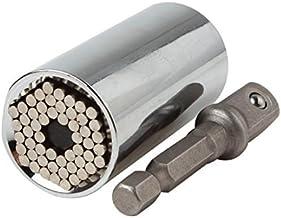 Origlam 2pcs Profesional Agarre llave llaves de vaso, adaptador Multi Función, agarre, Universal De Reparación De Automóviles Mango Kit de herramientas con 7–19mm adaptador para taladro eléctrico