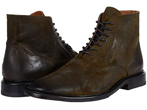 Frye mens Paul Lace Up Fashion Boot, Olive, 7 US
