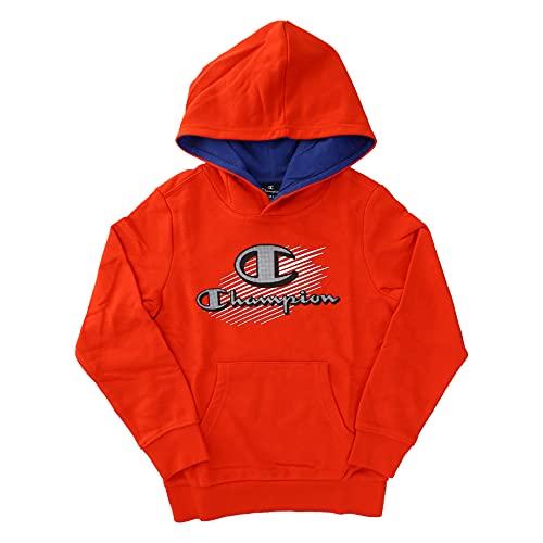 Champion Seasonal Graphic Shop Comics Hooded Sweatshirt Sudadera con Capucha, Rojo, 5-6 Años para Niñas