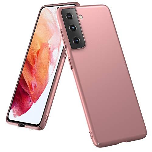 SHINEZONE Custodia Protettiva per Samsung Galaxy S21 Plus, Custodia per Cellulare Sottile Nero Opaco, Custodia Protettiva dal Design Elegante Case Antiurto Cover per Samsung Galaxy S21 Plus(Oro Rosa)