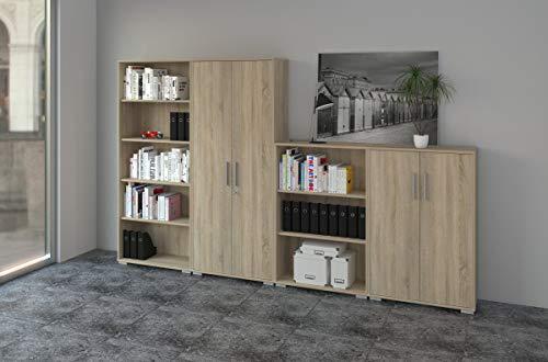 Möbel Pracht Regal Set - Aktenschrank Set - Ideal um viele Ordner zu verstauen und um eine Ordnung zu schaffen - Aktenschrank - Regal - Aufbewahrungslösung - Schrank Set - 4tlg. -