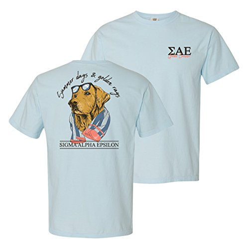 Sigma Alpha Epsilon Fraternity Greek Blue Comfort Colors Retriever Tee SAE