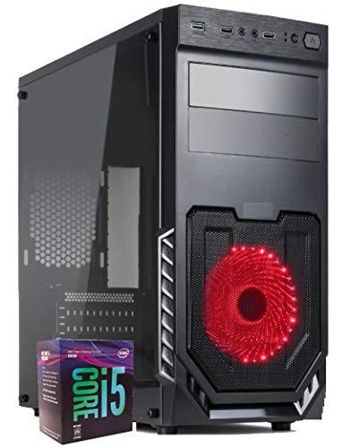 PC Mid Gaming Desktop Cpu Intel i5 9400 Up 4,10 GHZ/Nvidia GT 1030 2 GB Gddr5 / RAM 16 GB DR4 / SSD 480 GB / Wi-Fi USB 3.0 Hdmi / Licencia Windows 10 Pro Esd / Ordenador Oficina Casa Juegos