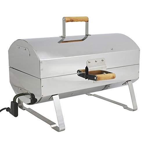 MUURIKKA Nokkela Grill und Räucherofen 1200W kompakter Elektro-Smoker aus Edelstahl, für Fisch & Fleisch