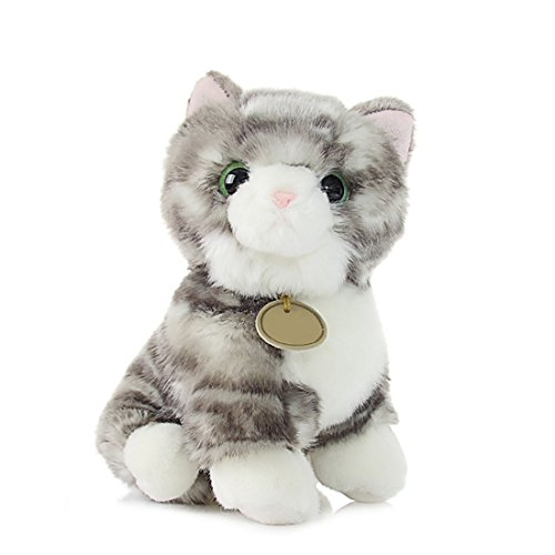 ぬいぐるみ 猫 ねこ ニャンコ リアル 可愛い アニマル キャラクター グレー もふもふ インテリア 店飾り ベッドルーム グッズ プレゼント ギフト 子供 彼女彼氏へ 誕生日 母の日