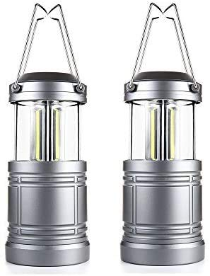 2 Pack LED Camping Lantern with Magnetic Base As Seen on TV Collapsible Lanterns - Survival Kit for Hurricane, Emergency, Storm, Power Outage