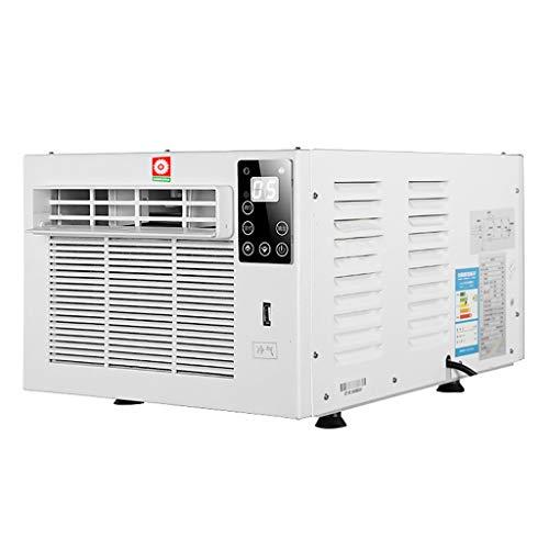 Acondicionador de Aire de Ventana de 5,000 BTU y acondicionador de Aire Mini-Compacto montado en la Ventana con Control Remoto, Carga e iluminación por USB, Blanco