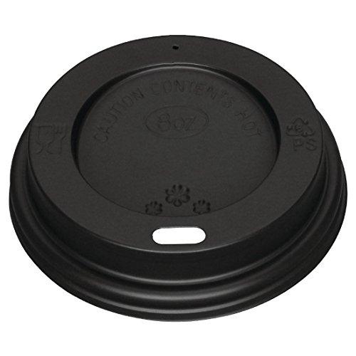 Fiesta Hw08hl040 Couvercle pour Hot Tasses, 8 g, Noir (Lot de 1000)