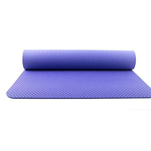 YHDNCG Esterillas de yoga, 6 mm de TPE antideslizantes para yoga, para fitness insípido, colchonetas deportivas de gimnasio, alfombrilla antideslizante de doble cara