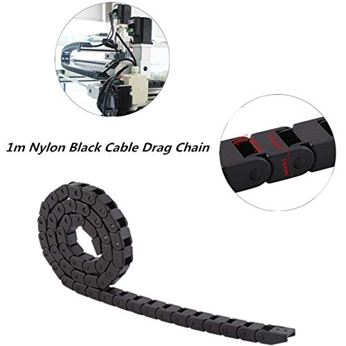 Cable Drag Chain,R28 Nylon Cable Drag Chain(1000mm/40' Long),Wear Resistance, Corrosion Resistance,not Easy to Deform,Fast Moving Speed,for 3D Printer, CNC Machine Tools etc