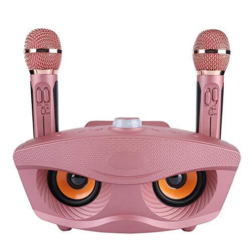 Máquina de Karaoke con 2 Micrófonos, Juego de Máquinas de Karaoke, Altavoces de Conexión Inalámbrica Bluetooth Control a Larga Distancia, Aplicable para Fiestas, Eventos, Diversión y Entretenimientos