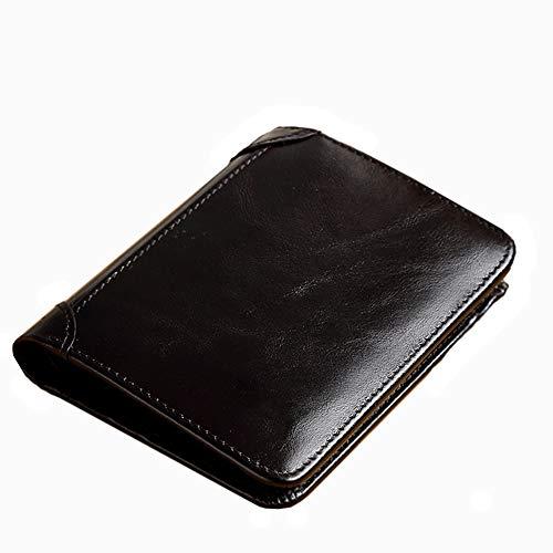 Portefeuille Homme, Portefeuille Homme Cuir Veritable, RFID Blocage Portefeuille Porte-Cartes Petit Portefeuille Homme, Poche à Monnaie Homme Convient pour Les Voyages d'affaires, Le Tourisme, etc