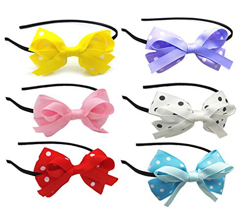 ALEAD Satin Covered Girls Headbands Colorful Hair Band 5 Piece for Women and Girls