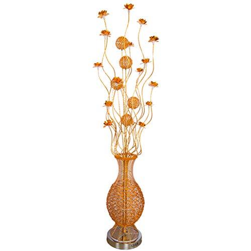 Verstelbare Vloerlamp Mooie Vaas Vloerlamp Korte Mode Huis Verlichting Handgemaakte Aluminium Draad Vloerlamp Thuis Verlichting