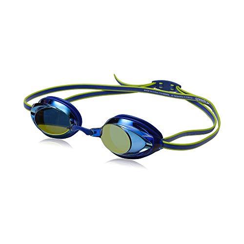Speedo Unisex-Child Swim Goggles Vanquisher 2.0 Junior Mirrored Blue, One Size
