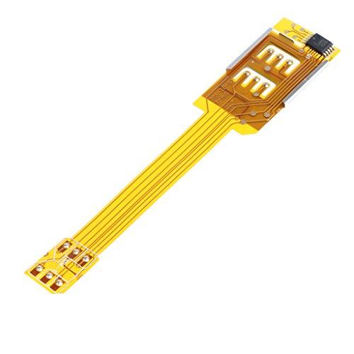 Cellulare Doppia Sim Scheda Adattatore Cavo Flessibile Nastro per Apple iPhone 6/5S/5/4S/4