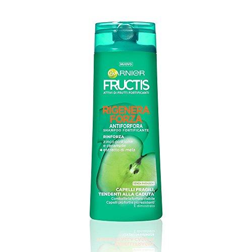 Garnier Fructis Rigenera Forza Shampoo Antiforfora per Capelli Fragili Tendenti alla Caduta - 250 ml