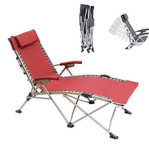 BSFYUK Multifunktionale Klappgartenstuhl, Liegestuhl Liegestuhl zusammenfalten Stuhl Klappbett Sessel Zwei in einem Campingstuhl standhalten kann 330 Pfund