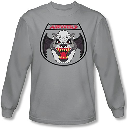 Airwolf - Patch Tee shirt manches longues Homme En Argent, X-Large, Silver