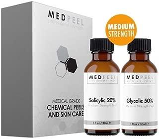 Alpha Beta Medium Strength Chemical Peel Set - 20% Salicylic 1oz, 50% Glycolic 1oz