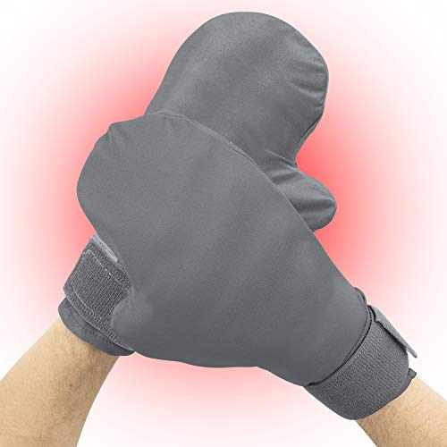 Vive Arthritis Warming Mitten - Pain Relief for Carpal Tunnel, Stiff Joints, Trigger Finger, Raynauds - Arthritic Hand Warmers - Heated Mitts - Relieves Symptoms - for Men and Women - Reusable Gloves