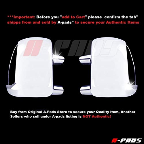 A-PADS Chrome Mirror Covers for Ford Super Duty F250 F350 F450 1999-2007 &...