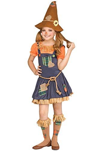 Fun World Scarecrow Costume, X-Large 14-16, Multicolor