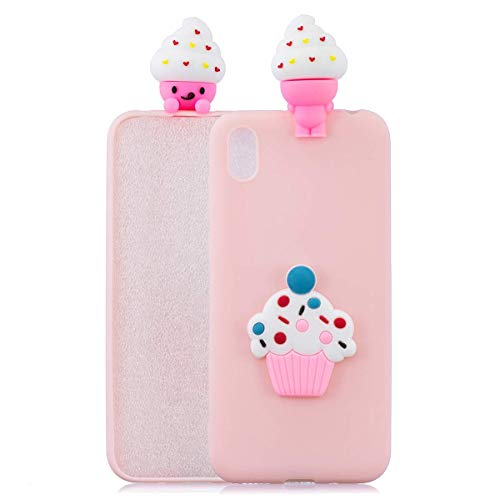 LAXIN Case for Huawei Honor 8S, 3D Design Premium TPU Soft Silicone Gel Case with Cute Panda Pattern Flexible Protective Skin Cover for Huawei Honor 8S