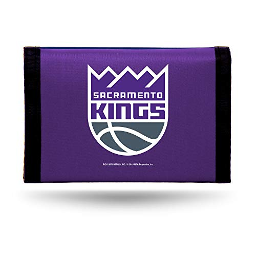 NBA Rico Industries - Cartera Triple de Nailon, diseño de Sacramento Kings