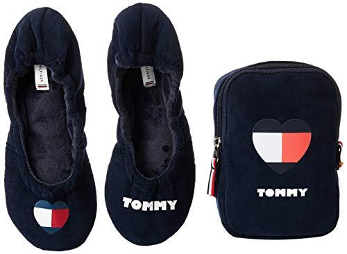 Tommy Hilfiger Damen Tommy Heart TRAVEL Pack Niedrige Hausschuhe, Rot (RWB 020), 39 EU