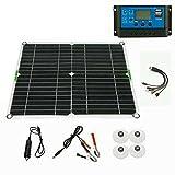 Kit de panel solar 200 W cargador de batería 100 A 12 V con controlador Caravan Boat AU