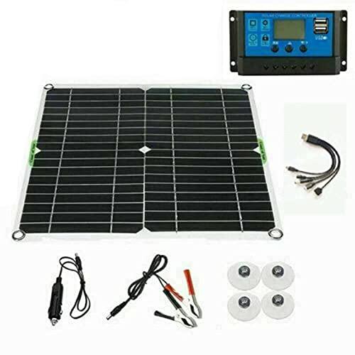 Panel solar Kit 200 W cargador de batería 100A 12 V...