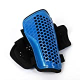 Soccer Shin Guards Kids Youth - Shin Pads Cushion Protection Reduce Shocks & Injuries - Protection Breathable Shin Guards for 3-10 Years Old Girls Boys (Blue, S)